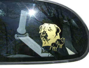 Anatolian Shepherd Dog Decal on Car